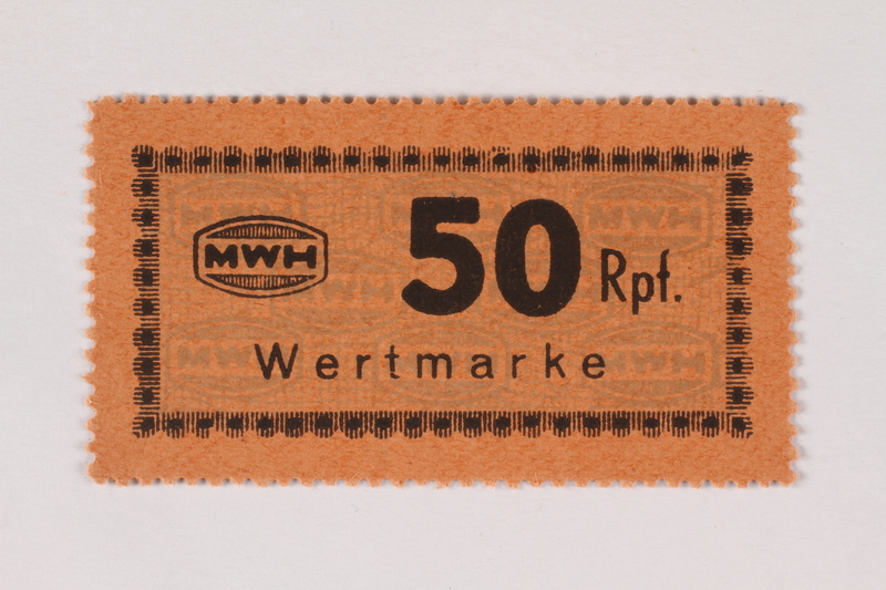 2003.413.65 front Holleischen subcamp scrip, 50 Reichspfennig note