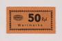 Holleischen subcamp scrip, 50 Reichspfennig note