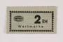 Holleischen subcamp scrip, 2 Reichsmark note
