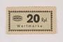 Holleischen subcamp scrip, 20 Reichspfennig note