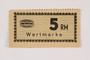 Holleischen subcamp scrip, 5 Reichsmark note
