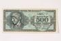 German issued Greek currency, 500 million Drachmai note