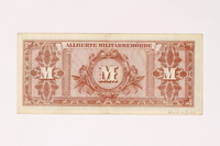 2003.413.90 back Allied Military currency for Germany, 50 mark note  Click to enlarge