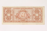 2003.413.91 back Allied Military currency for Germany, 100 mark note  Click to enlarge