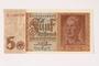 German Reichsbank, 5 Reichsmark note