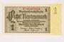 German Rentenbank, 1 Rentenmark note