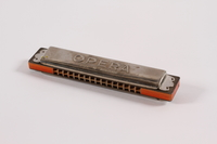 2015.312.4 front Tremolo style Opera harmonica owned by an Austrian Jewish refugee  Click to enlarge