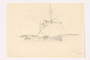 Child's drawing of a large ocean liner by a German Jewish refugee