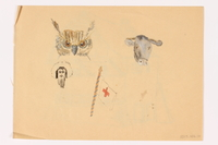 2013.486.14 back Child's two sided drawing of a house and 4 watercolor studies by a German Jewish refugee  Click to enlarge
