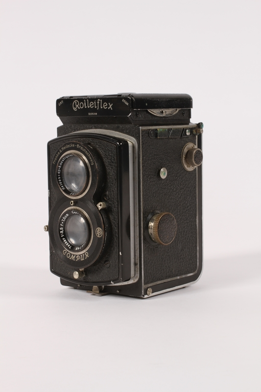 2015.483.1 a 3/4 view Rolleiflex camera taken by an American soldier