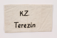 2015.323.3 front Armband hand printed K.Z. Terezin worn by a Jewish prisoner  Click to enlarge