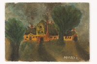 2015.482.1 front Landscape painting with buildings  Click to enlarge