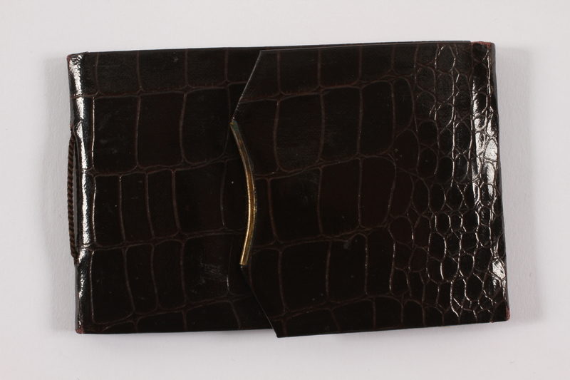 2013.486.18 front Faux alligator photo wallet used by a young German Jewish refugee