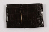 2013.486.18 front Faux alligator photo wallet used by a young German Jewish refugee  Click to enlarge