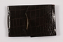 Faux alligator photo wallet used by a young German Jewish refugee