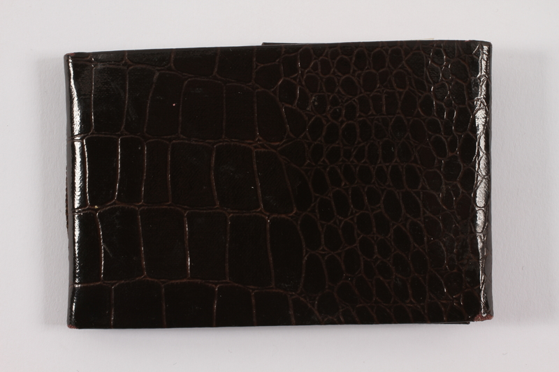 2013.486.18 back Faux alligator photo wallet used by a young German Jewish refugee