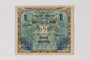 Allied Military Authority currency, 1 mark, for use in Germany, acquired by a German Jewish survivor