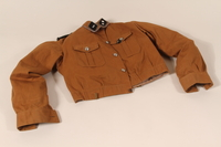 1991.239.1 front Brown shirt worn by Storm Trooper  Click to enlarge