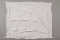 2012.342.4 front White lace pillowcase returned to Czech Jewish concentration camp inmates postwar  Click to enlarge