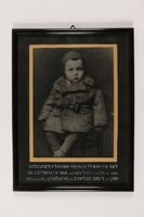 1990.139.25 front Framed photograph of Izy Rosenblat's son, Max Rosenblat  Click to enlarge