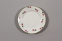 China plate with floral  border recovered by a German Jewish family postwar