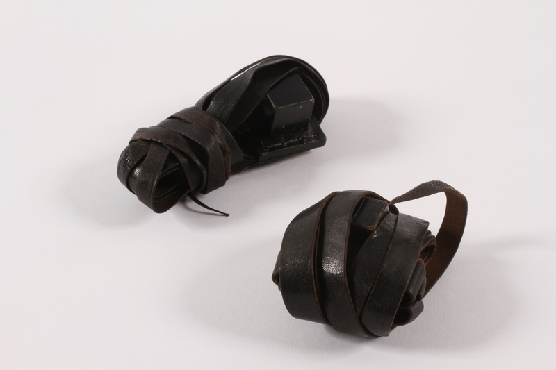 2015.365.5 a-b front Set of tefillin carried by a young German Jewish Kindertransport refugee