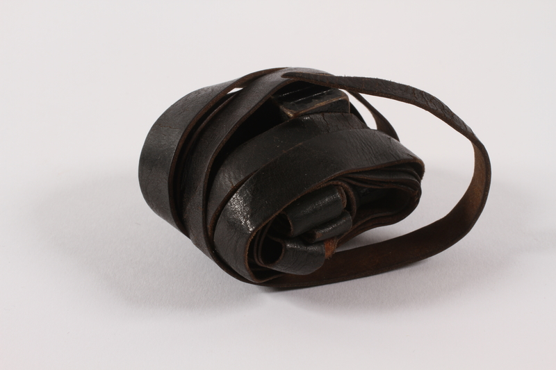 2015.365.5 b front Set of tefillin carried by a young German Jewish Kindertransport refugee
