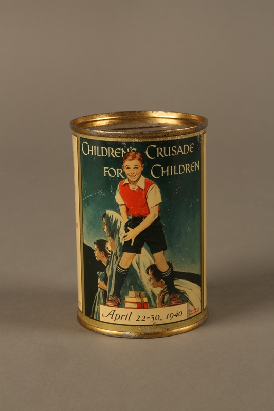 2015.585.1 front Children's Crusade for Children fundraising collection can