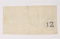 2009.401.3 back Armband stamped Jewish Police Schwandorf acquired by a US soldier  Click to enlarge