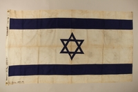 2016.1.1 front Blue and white Zionist flag with a Star of David from the ship Exodus 1947  Click to enlarge