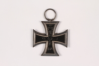 2015.415.2 front World War I Iron Cross medal awarded to a Jewish German veteran  Click to enlarge