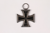 2015.415.2 back World War I Iron Cross medal awarded to a Jewish German veteran  Click to enlarge