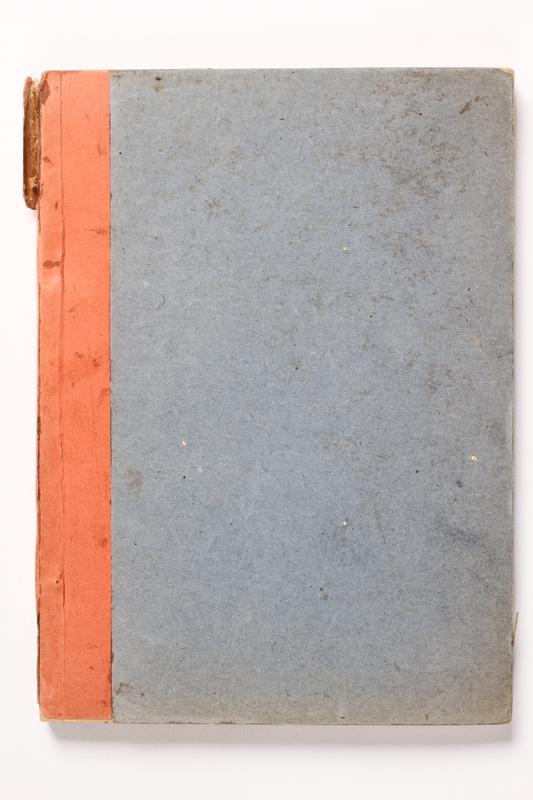 2014.538.2 front Recipe book written in Theresienstadt