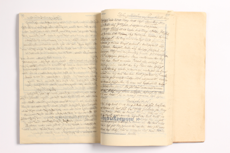2014.538.2 open Recipe book written in Theresienstadt