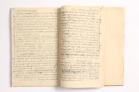 2014.538.2 open Recipe book written in Theresienstadt  Click to enlarge