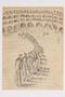 Postwar sketch of inmates in a food line inscribed to a Czech Jewish survivor