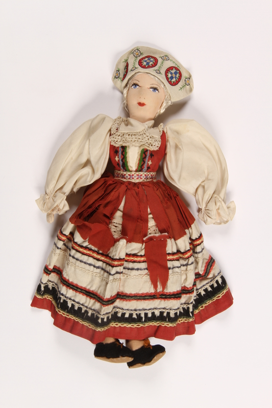 2015.451.2 front Doll in traditional Polish costume