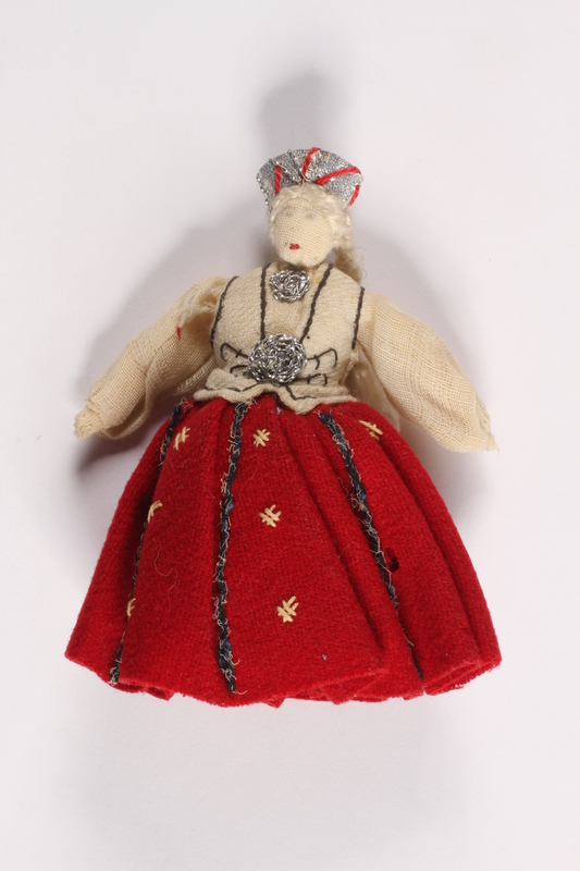 2015.451.3 front Doll in traditional Latvian costume