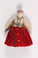 2015.451.3 front Doll in traditional Latvian costume  Click to enlarge