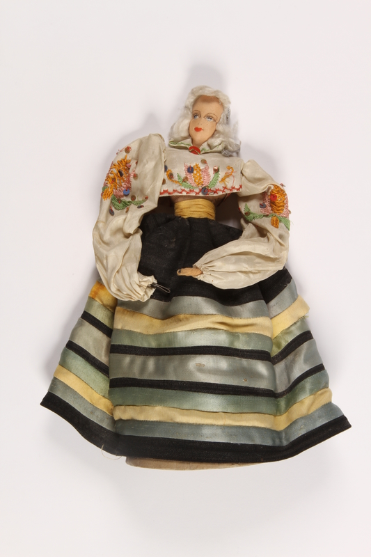 2015.451.5 front Doll in traditional Latvian costume