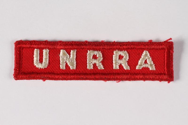 2015.451.30 front UNRRA patch