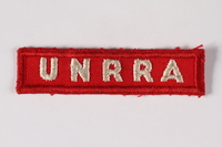 2015.451.30 front UNRRA patch  Click to enlarge