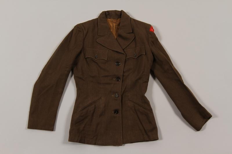 2015.451.32 front Uniform jacket with UNRRA patch