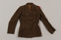 2015.451.32 front Uniform jacket with UNRRA patch  Click to enlarge