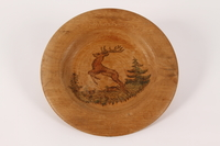 2015.451.54 front Decorative painted wooden plate  Click to enlarge
