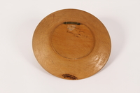 2015.451.55 back Decorative painted wooden plate  Click to enlarge