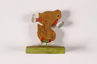 2015.451.58 front Painted wood figurine made in a displaced persons camp  Click to enlarge