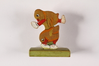 2015.451.58 back Painted wood figurine made in a displaced persons camp  Click to enlarge