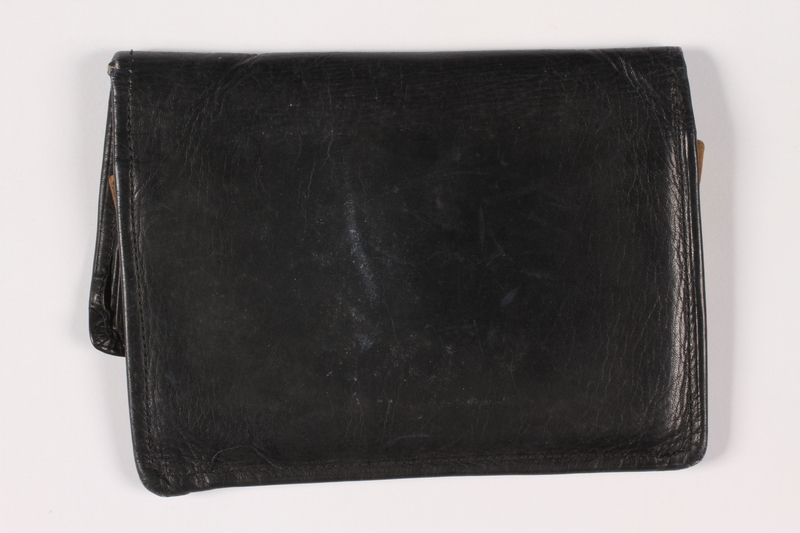 2013.285.2 back Painted leather wallet used prewar by a Polish Jewish refugee