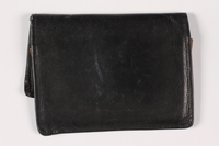 2013.285.2 back Painted leather wallet used prewar by a Polish Jewish refugee  Click to enlarge